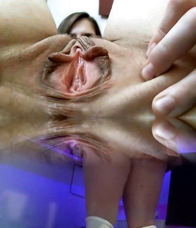 Busty Asian close up masturbation
