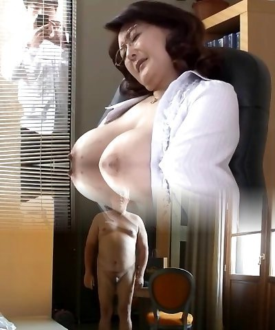 Japanese college director wanks in the office