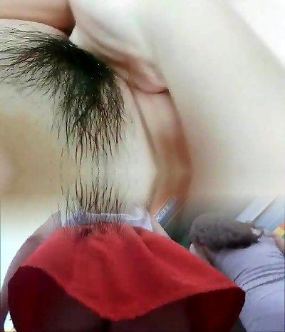Korean girl masturbating on the bus