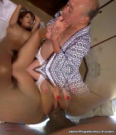 Unbelievable Japanese slut Sumire Matsu in Horny Oldie, Handjobs JAV clip