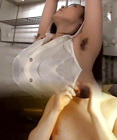 Naughty Japanese slut in Amazing Handjobs, Double Penetration/Futa-ana JAV scene