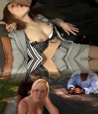 Incredible amateur Threesomes, Facial adult vid