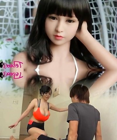 I�m addicted to this Japanese chinese brunette sex doll