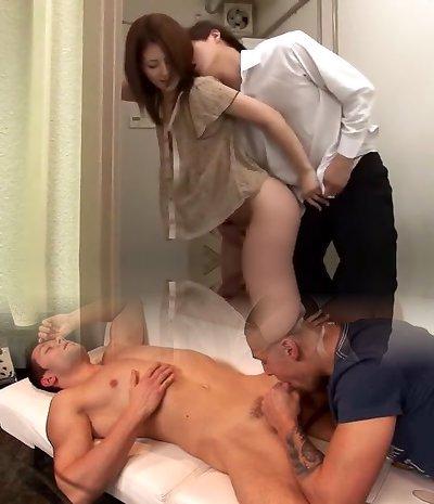 Amazing Japanese slut Nozomi Aiuchi, Tsumugi Serizawa, Kuroki Ichika in Exotic Diminutive Tits JAV pin