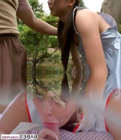 Hottest Japanese model Junko Hayama in Unbelievable Outdoor, Fingering JAV movie