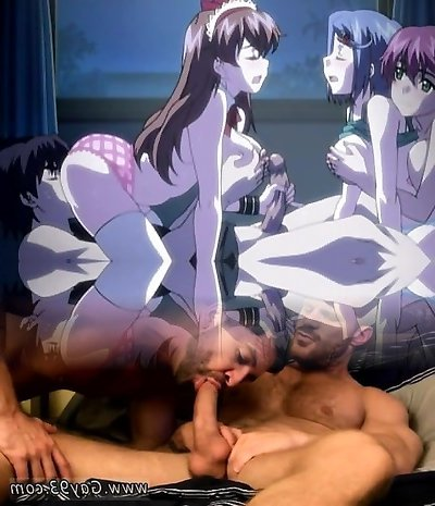 Hentai girls sucks and gets humped by boy