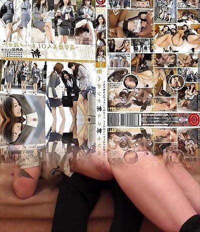 Yuria Kanno, Shizuka Kanno, Rika Miyashita, Yui Hirai in Office Femmes Skipping Work Trio part 3