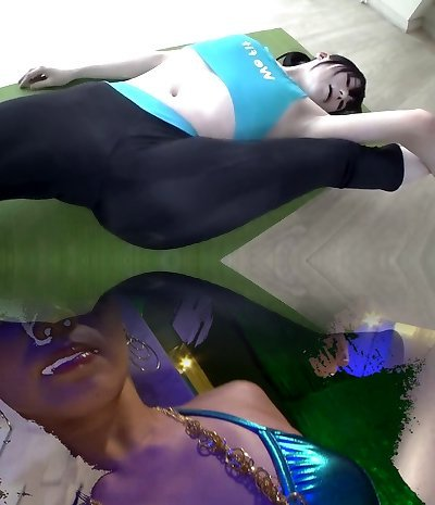 Wii Fit Trainer Yoga asian costume play girl