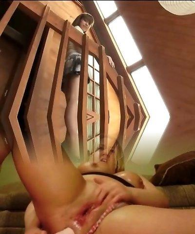 softcore asian satin panty display