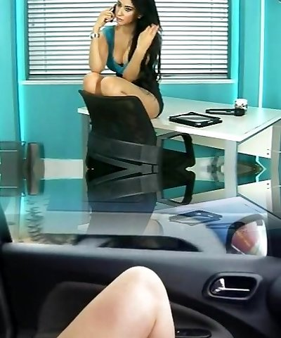 Steamy Indian stunner Zohra as secretary in office