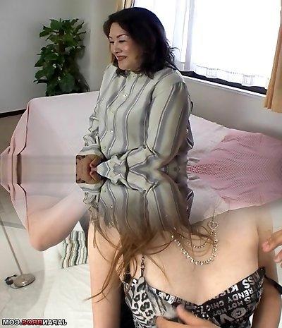 Hottest Japanese cockslut in Crazy Blowjob/Fera, Fishnet JAV clip