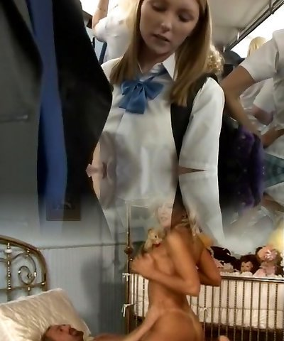 Fabulous Japanese model in Amazing Blonde, Public JAV scene