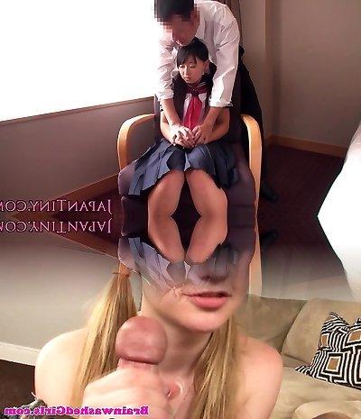 Tiny japanese schoolgirl fucked by business stud