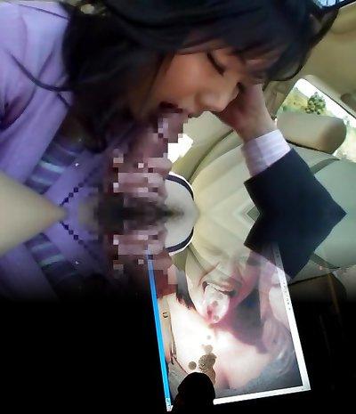 Horny Japanese chick Miu Katahira in Best Car, POV JAV clip