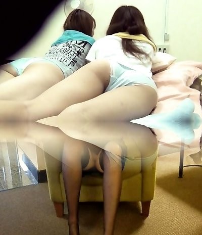 Asian teenagers wet bed