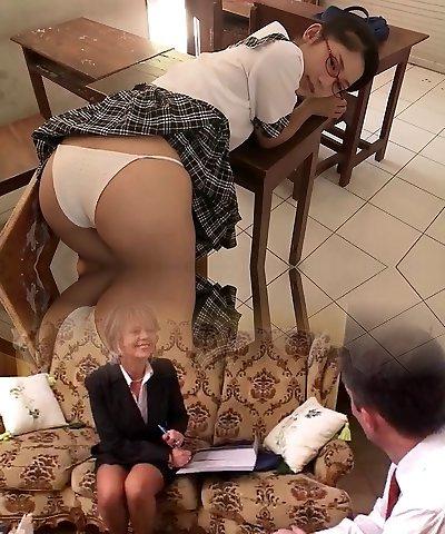 softcore asian college girl boulder-holder panty upskirt tease