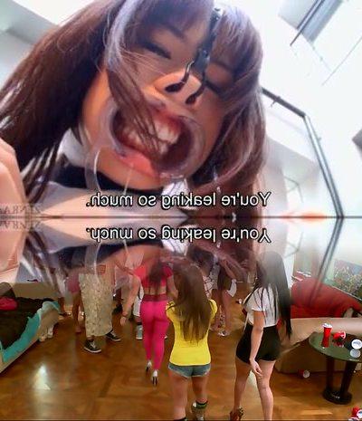 Subtitled bizarre Japanese face destruction shaved schoolgirl