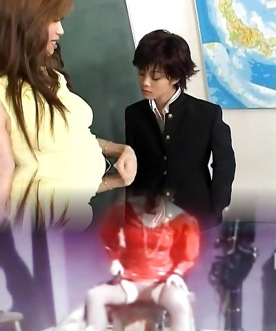 Insane Japanese chick Mami Shindo, Sayaka Kusunoki in Hottest Suck Off JAV clip