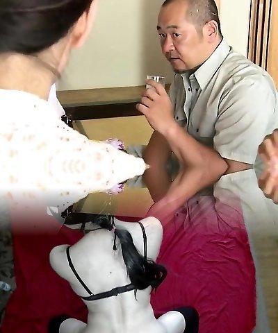 Japanese fur covered twat fingering