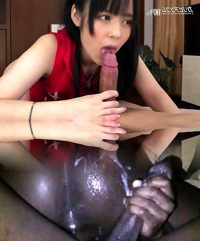 little kitten enjoys huge peckers - Ruka Kanae