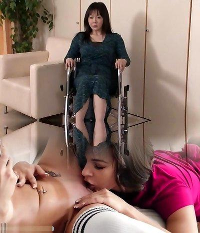 Amazing Asian cockslut Nozomi Mashiro, Miku Ohashi, Sho Nishino in Exotic Swallow, Handjobs JAV scene