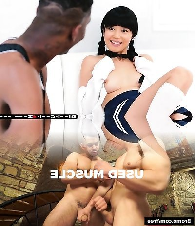 Asian cutie gets her sweet muff railed by huge ebony boner