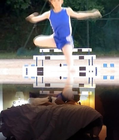 Asian inexperienced in nude track and field