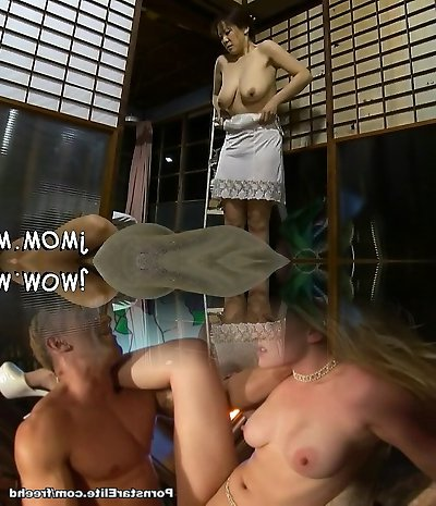 Steamy bdsm action with older honey giving head and using toys