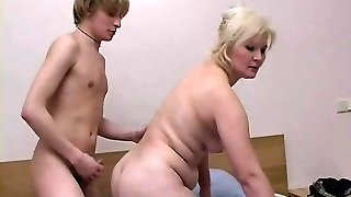 Blondie Mature With Young Stud