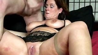 Immense thighs dutch mature lady gets poked