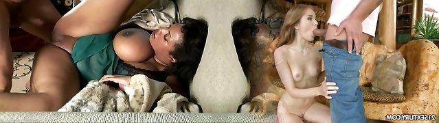 Deepthroat Sperma Schlucken Ebenholz