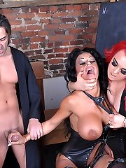Mistress Jemstone and Tony force Kerry Louise to ride a cock