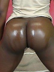 Minas plump rump rides a big black dick