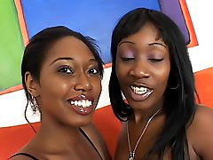 Black girls make each other cum loudly