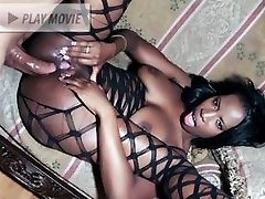 Black chick Damsel Armani dons her slutty fishnet outfit and gets her crevices fucked after sucking a penis