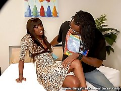 Urban black gal likes her tits to be fondled and sucked