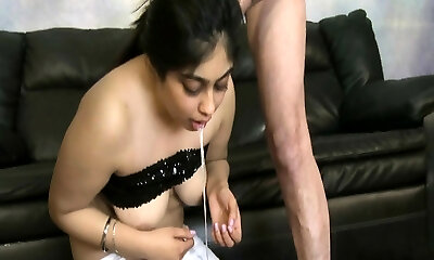 Rock Hard girlfriend cum in face hole