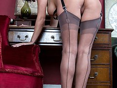 Cassie puts the case forward, wearing heels and sheer grey FF nylons, that you really should...