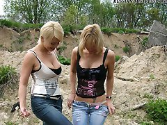 Wild countryside trample and pee outdoor picture gallery wont leave you cold