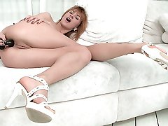 Watch as Candy experiences anal sex for the first time with her boyfriend who has a very large...