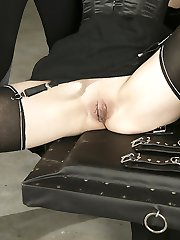 Forced orgasm in nylon stockings I
