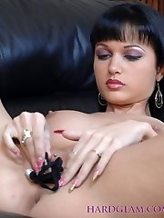 The Sexy Russian temptress that is Roxanna is lying on the sofa naked with her favourite pair of...