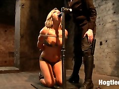 Welcome hot blonde babe Cameron Dee. Eager to please, we start with tying this bitch for you on...