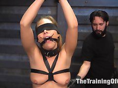 Carter Cruise is back for her dose of hardcore sex, bondage and discipline on Training of O....