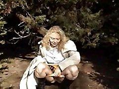 Kinky amateur blonde peeing on public