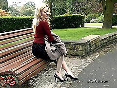 Are you fully satisfied in your fetish? Sophias foot slips easily in and out of her high heel...