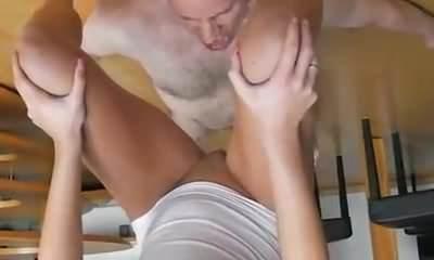 Skinny amateur slut brutally fisted by a gang of brutes