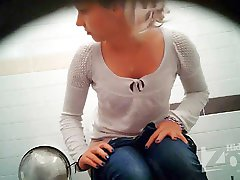 View from the two cameras. Beautiful blonde demonstrate to our operator hair on her pussy and...