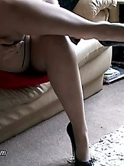 Megan is teasing your shoe fetish in her very high heels and silky smooth stockings! She knows...