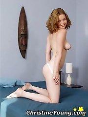 Facial enjoying blonde pornstar Victoria Evans in action